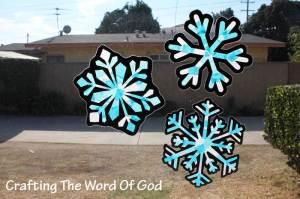 Christmas Snowflake Suncatcher