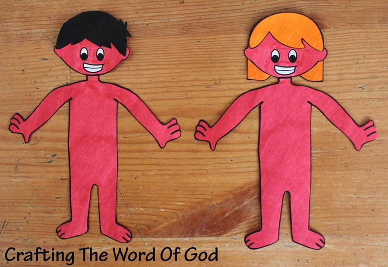 Adan Y Eva Manualidades Biblicas