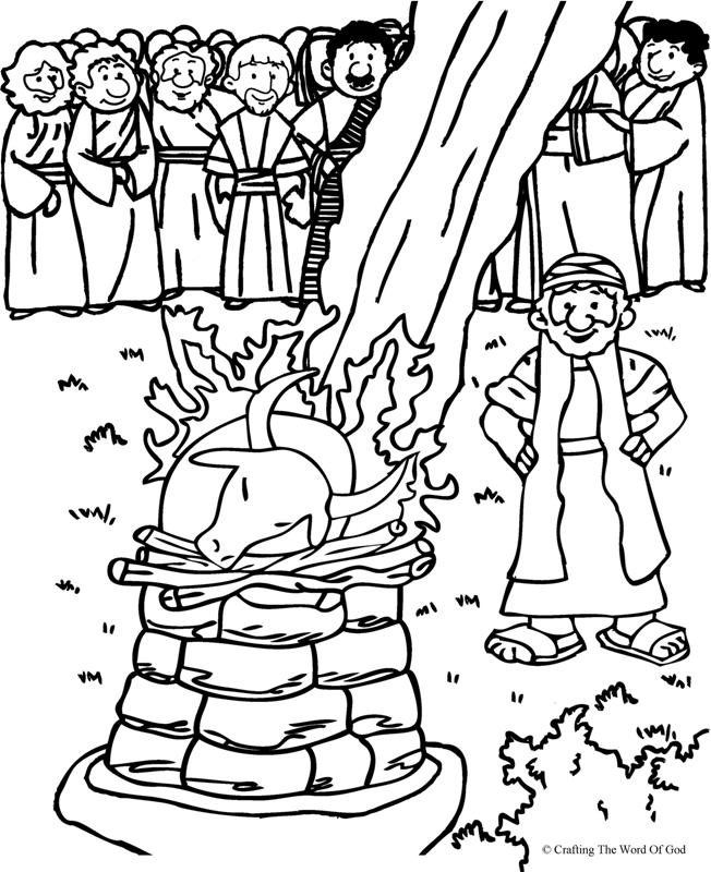 Free Coloring Pages Of Elijah And Ahab Elijah And The Prophets Of Baal Coloring Page