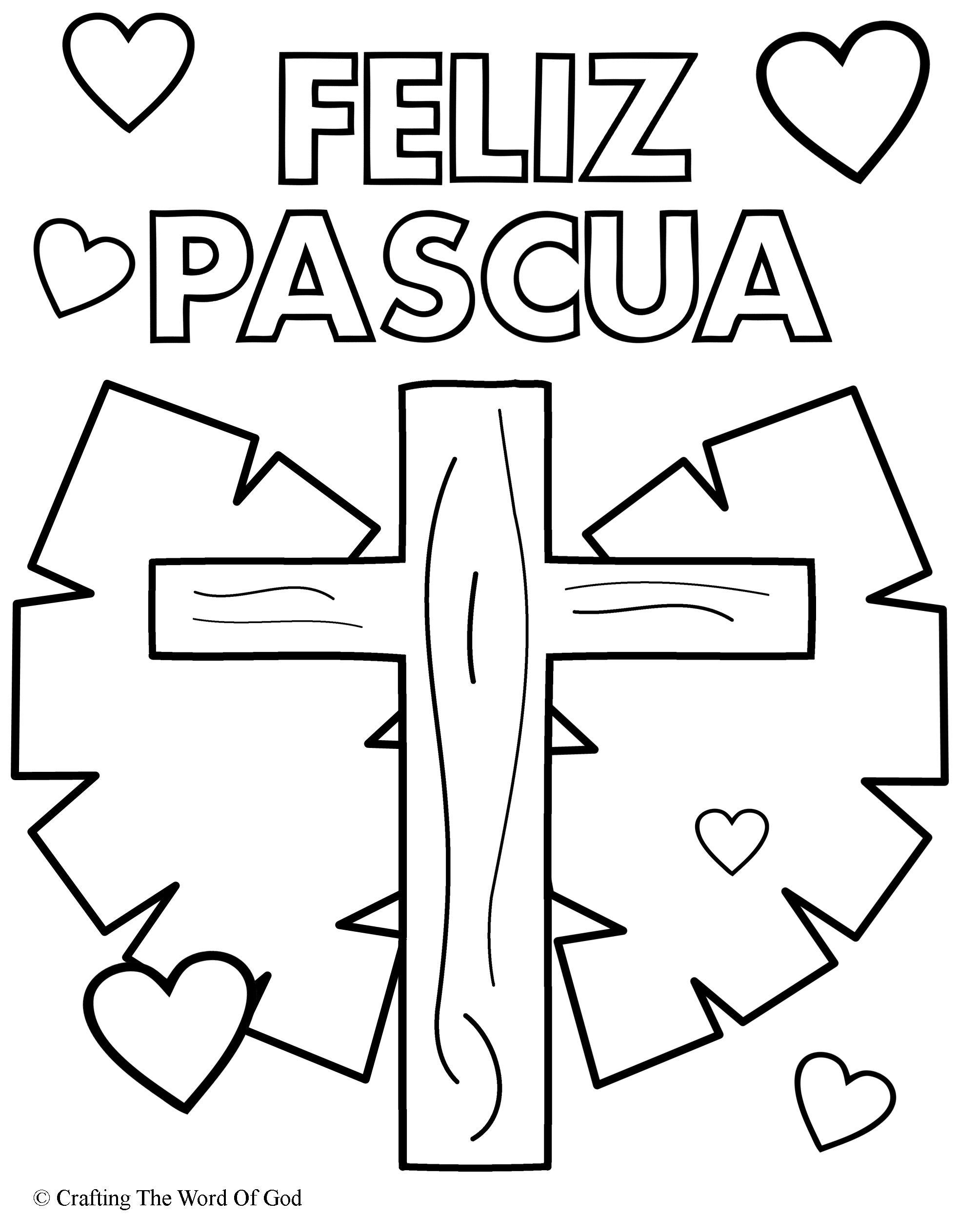 Feliz Pascua 3- Pagina De Colorear « Manualidades Biblicas
