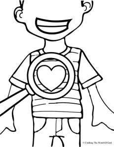 God Searches Our Hearts Coloring Page
