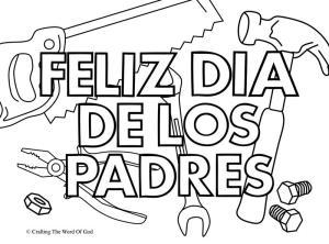 Feliz Dia De Los Padres Pagina De Colorear 2