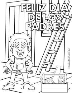 Feliz Dia De Los Padres Pagina De Colorear