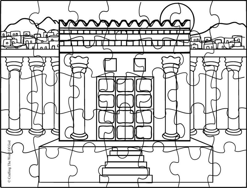 Reconstruyendo El Templo- Pagina De Actividades « Manualidades Biblicas