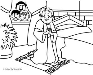 Daniel Prayed Coloring Page