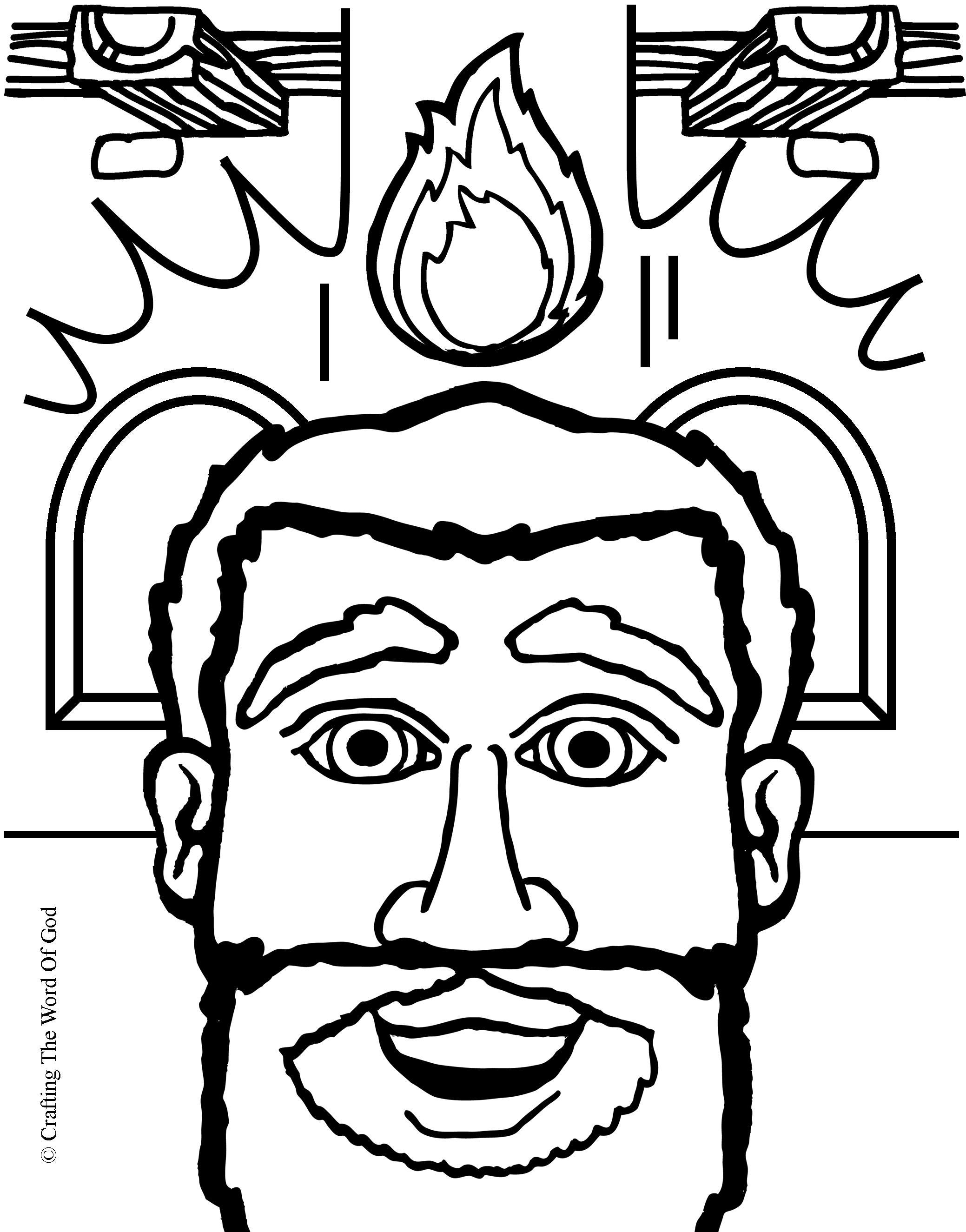 El Dia De Pentecostes- Pagina De Colorear « Manualidades Biblicas