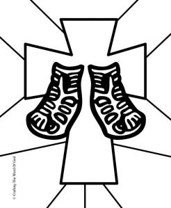 sandals-of-peace-coloring-page