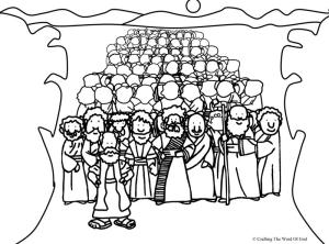 Crossing The Red Sea Coloring Page